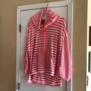 Lightweight striped sweatshirt
